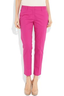 Miu Miu Stretch-Cotton Cropped Pants - Lyst