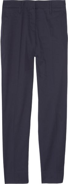 Miu Miu StretchCotton Cropped Pants in Blue (indigo) - Lyst