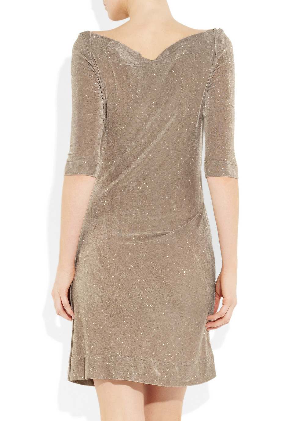 0011144f5a350b Vivienne Westwood Anglomania Donna Glitter Stretch-Jersey Dress in ...
