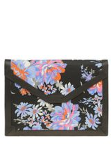 Asos Collection Asos Fabric Envelope Clutch with Leather Trim in Multicolor (black) - Lyst
