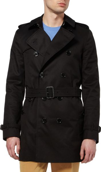 Burberry Britton Twill Trench Coat In Black For Men Lyst