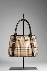 Burberry Small Haymarket Check Tote Bag - Lyst