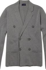 Lanvin Double-breasted Cotton Cardigan - Lyst