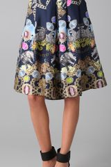 Tibi Collage Print Midi Skirt - Lyst