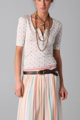 Torn By Ronny Kobo Gracie Henley Tee in White (ivory) - Lyst