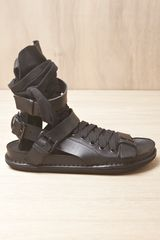 Ann Demeulemeester Mens Vitello Olio Sandals