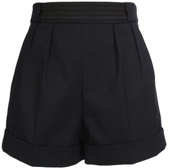 Balenciaga Tailored Cotton Shorts With Garbardine Belt - Lyst