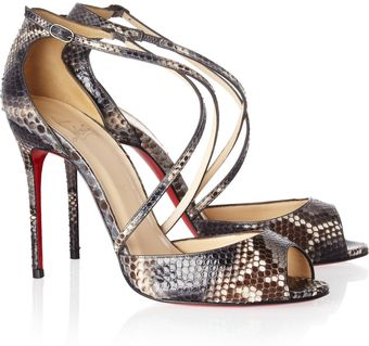Christian Louboutin So F... 100 Python Sandals - Lyst