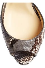 Christian Louboutin So F... 100 Python Sandals in Animal (brown) - Lyst