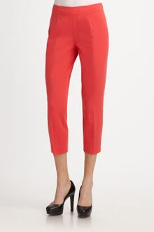 Elie Tahari Stretch Twill Cropped Pants - Lyst
