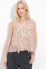 Elizabeth And James Jaime Print Silk Crepe Blouse - Lyst