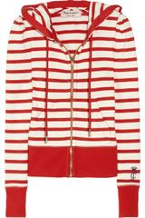 Juicy Couture Striped Cotton Hooded Top - Lyst