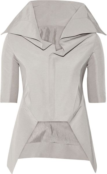 Rick Owens Cotton and Silkblend Jacket in Gray - Lyst
