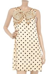 Sonia By Sonia Rykiel Polkadot Cotton and Silkblend Dress - Lyst