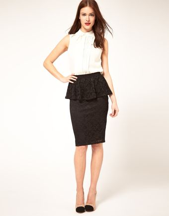 ASOS Collection Asos Peplum Skirt in Lace - Lyst