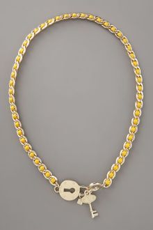 Fendi Lock & Key Necklace, Yellow - Lyst