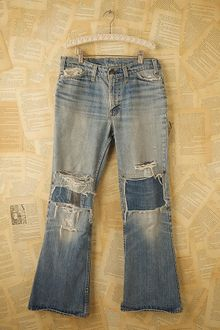 Free People Vintage Levis Patched Jeans - Lyst