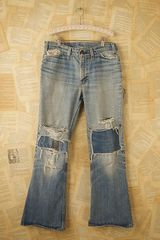 Free People Vintage Levis Patched Jeans in Blue (denim) - Lyst