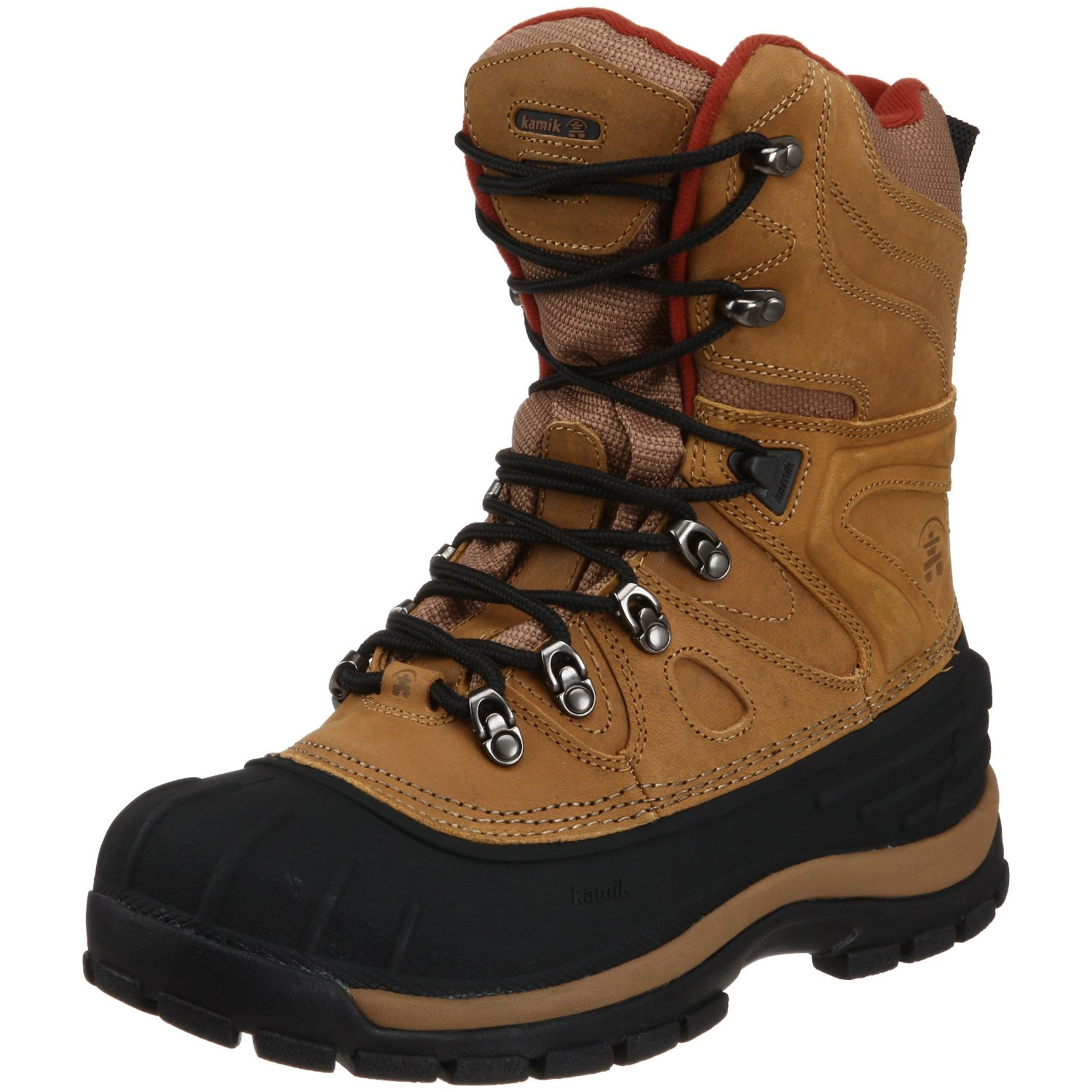kamik mens patriot 3 cold weather boot in brown for