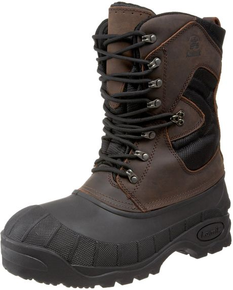 kamik mens everest cold weather boot in brown for