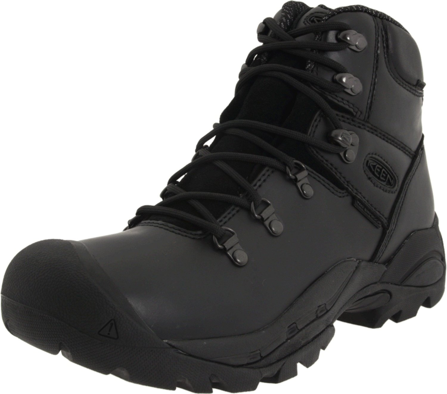 Keen Mens Cleveland Soft Toe Work Boot In Black For Men