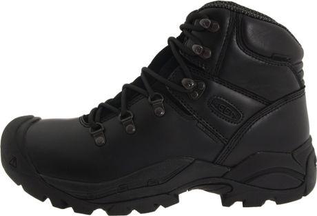 Keen Mens Cleveland Soft Toe Work Boot In Black For Men
