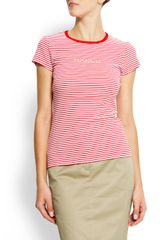 Mango Sailor Striped Tshirt - Lyst