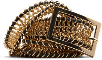 Mango Braided Metallic Belt - Lyst