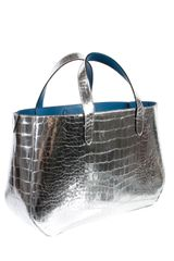 Marc Jacobs Silver Metallic Crocembossed Calfskin in Gold - Lyst