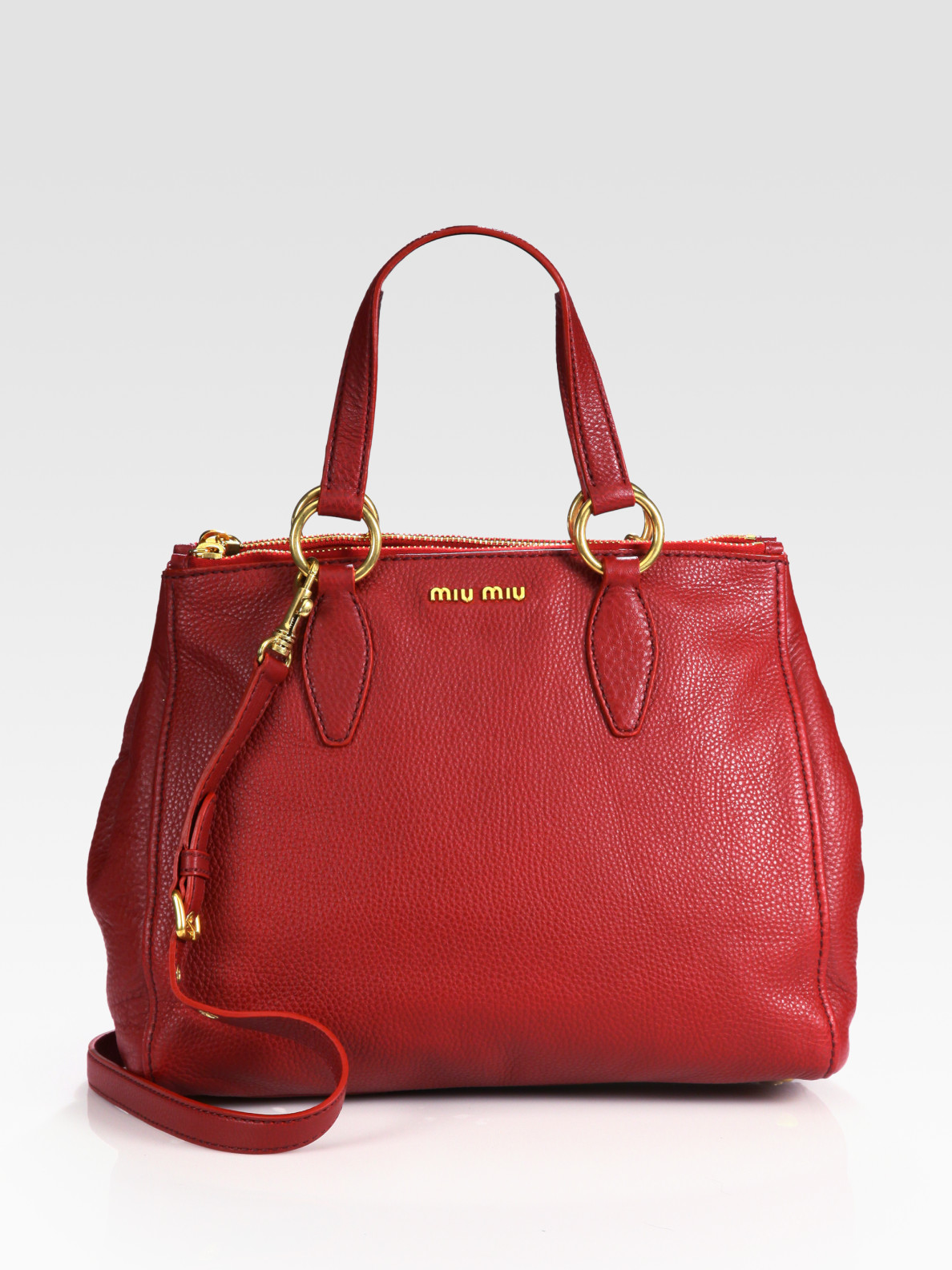 Miu Miu Vitello Caribou Top Handle Bag