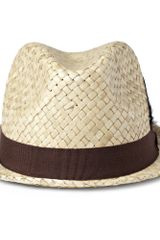 Paul Smith Embellished Straw Trilby Hat in Beige for Men (straw) - Lyst
