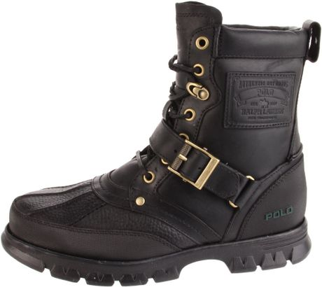 polo ralph mens tenard hiking boot in black for