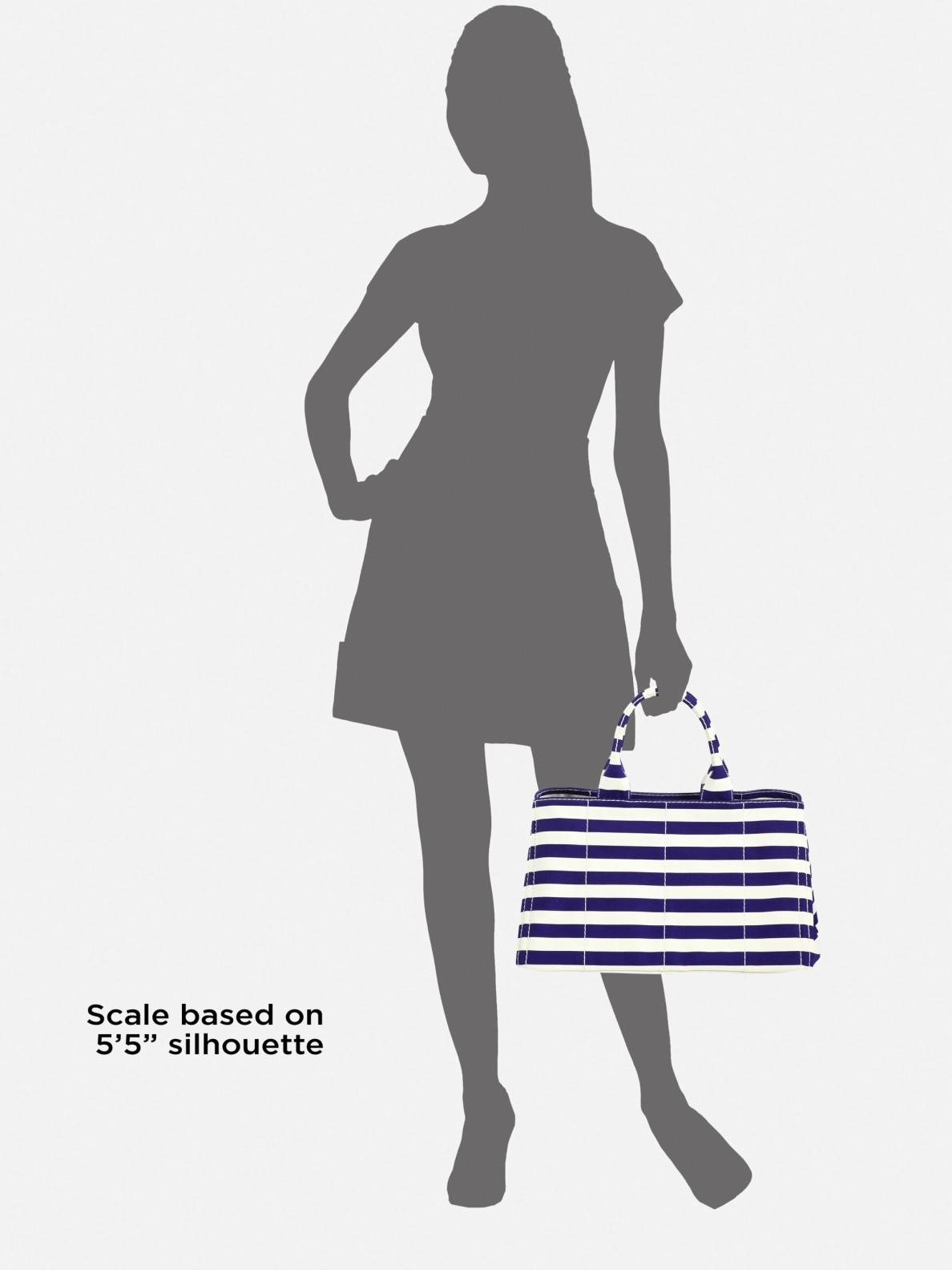 Lyst - Prada Stripe Canvas Tote Bag in Blue 63d06315ffa95