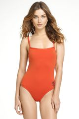 Tory Burch Monogram One Piece Swimsuit - Lyst
