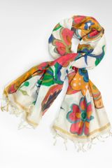 Tory Burch Wildflower Painted Scarf - Lyst