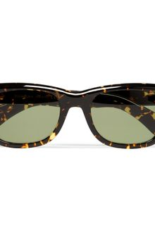Yves Saint Laurent Square Framed Tortoiseshell Sunglasses - Lyst