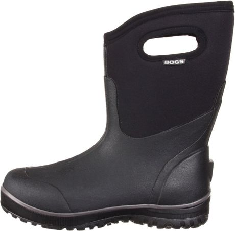Bogs mens classic ultra mid waterproof boot in black for for Bogs classic mid le jardin