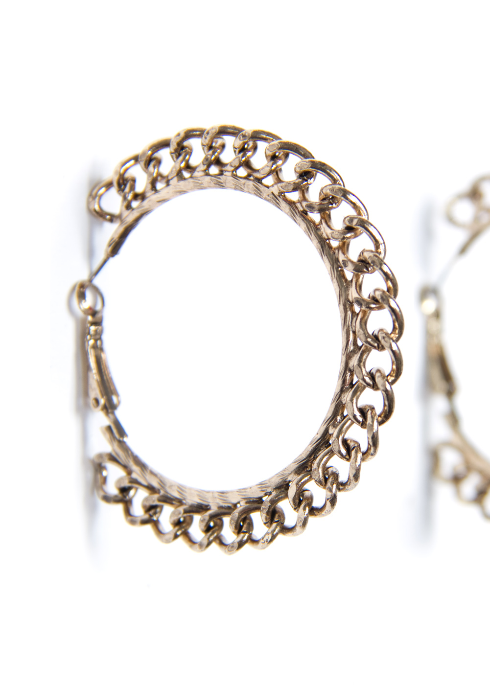 Lyst Mango Chain Hoop Earrings In Metallic