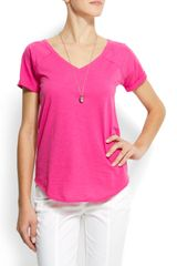 Mango Cotton V-neck T-shirt - Lyst