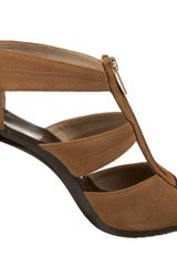 Michael By Michael Kors Michael Michael Kors Womens Berkley Tstrap Sandal in Brown (tan) - Lyst