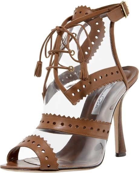 Oscar De La Renta Oxford Illusion Sandal in Brown - Lyst
