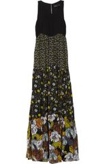 Proenza Schouler Printed Silk-georgette Maxi Dress - Lyst