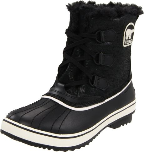 sorel womens tivoli boot in black black turtledove lyst