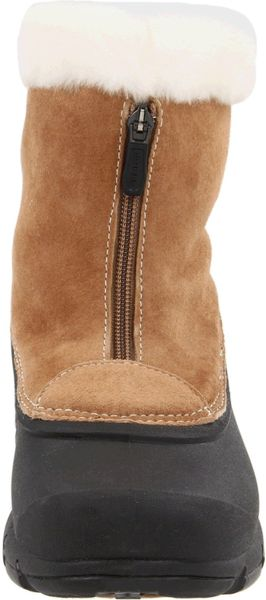 Sorel Womens Snow Angel Zip Boot In Brown Rootbeer Lyst