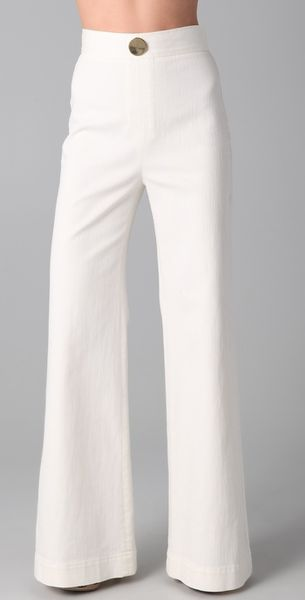 Viktor & Rolf Wide Leg Denim Pants - Lyst