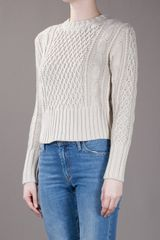 Acne Lia Cable Jumper in Beige (nude) - Lyst