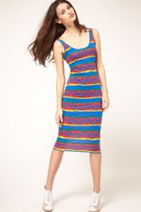 Asos Collection  Printed Vest Bodycon Dress in Multicolor (print) - Lyst