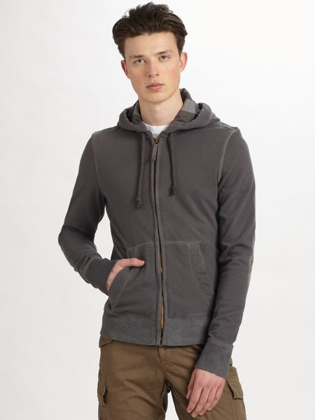 Burberry Brit Military Hoodie in Gray for Men (bluecarbonmelange