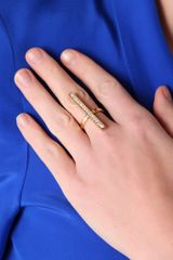 Cc Skye Whitney Pave Line Ring in Gold - Lyst