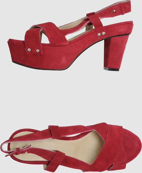 C'n'c' Costume National Platform Sandals in Red (maroon) - Lyst